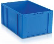 Bac plastique norme Eureka 56 litres - Capacité : 56 L - Dim :L.598 x lg.398 x H.280 mm - Matière : Polypropylène