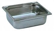 Bac gastro inox GN 1/2 - Profondeur : 20 à 200 mm - Capacité : 1.25 à 12.5 L