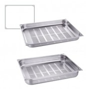 Bac gastronorme GN-P 2/1 perforé inox - Norme : GN-P 2/1 - Matière : Inox