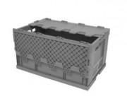 Bac gerbable à couvercle en polypropylène - Dimensions : 600x400x320 mm