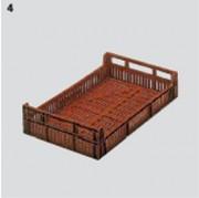 Bac gerbable classique 580 x 350 mm - Capacité : 18 L - Dim : L.580 x lg.350 x H.120 mm - Matière : Polyéthylène