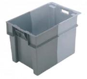Bac gerbable emboîtable gris 60 litres - 11065