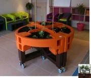 Bac modulaire à élévateur jardin thérapeutique - Hauteurs : de 70 à 95 cm