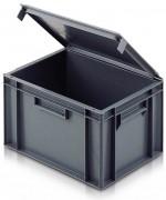 Bac Europe à couvercle intégré 400 x 300 mm - Capacité : 10 à 30 L - Dim: L.400 x lg.300 x H.129 mm - Matière : polypropylène - Norme Europe