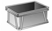 Bac norme europe parois pleins 20 litres - Bac NE gris Réf. 236469001502