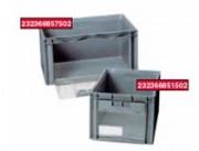 Bac norme europe porte coulissante 600x400 - Réf. 232366851502/Réf. 232366857502