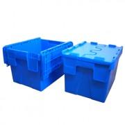 Bac plastique à couvercle - Dimensions extérieures : 400 x 300 x 250mm