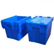 Bac plastique à couvercle 25 litres - Dimensions extérieures : 400 x 300 x 300 mm