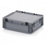 Bac plastique avec couvercle - Dimension extérieur (L x l x h) mm : de 400 x 300 x 135 à 800 x 600 x 440