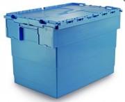Bac plastique couvercle solidaire - Matière polyéthylène