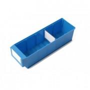 Bac plastique divisible - Dimensions (L x l x H) mm : de 300 x 91 x 81 à 400 x 183 x 81