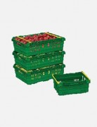 Bac plastique gerbable emboitable - Volume : 15 à 52 L – Capacité de charge : 7 à 18 kg