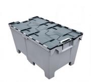 Bac plastique grand volume à couvercle - Dimensions extérieures : 1000 x 575 x 540 mm