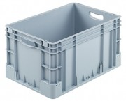 Bac plastique industriel 60 litres - Usage alimentaire - Dimensions extérieures : 600x400x320 mm