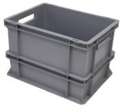 Bac plastique Norme Europe 25L - Dimensions (Lxlxh) : 400 x 300 x 275 mm