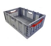 Bac plastique pliable 20 kg - Dimensions : 600x400x221 mm