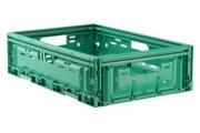 Bac plastiques pliables pour du transport de légumes - Dim. nominales 300 x 400 x 125 externes mm - contenance max. 12 kg