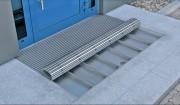 Bac récupérateur saleté pour tapis de passage - Largeur : 2850 ou 2900 mm