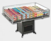 Bac réfrigéré libre service - Froid positif : -1 / + 1 °C - Vitrine avec groupe logé