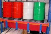 Bac rétention plastique de rack - Capacité de rétention : 1000 litres