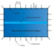 Bache de protection hiver pour piscine - Conformes à la norme NF P 90-308