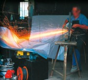 Bâche de soudure et meulage - Tissu de verre enduit PVC ou Polyuréthane