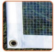 Bâche translucide polyester PVC - Poids au m² : 500 g