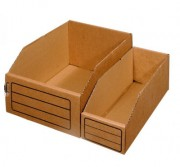 bacs bec carton kraft dimensions 300x100x110 mm. Black Bedroom Furniture Sets. Home Design Ideas