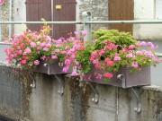 Bacs à fleurs plastique recyclé largeur 40 cm - Dimensions : L x l x H : 98 x 40 x 31 cm
