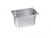 Bacs alimentaires en plein inox GN 1/4 - Norme : GN 1/4 - Volume : 1.7 - 2.7 L  - Matière : Inox