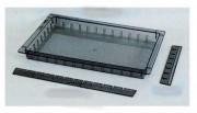 Bacs de rangement polycarbonate - 3 hauteurs : 50 - 100 - 200 mm