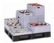Bacs de stockage - Dimensions extérieures (L x l x H) mm : De 400 x 300 x 120 à 600 x 800 x 420