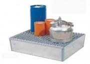 Bacs et palettes de rétention en acier pour 2 fûts - En acier