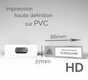 Badge d'identification personnalisé 85 x 27 mm - Lot de 10 Badges aimantés PVC 85 x 27 mm