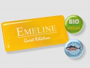 Badge magnétique personnalisable - Composit + résine - Épaisseur 4,3 mm