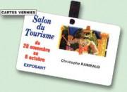 Badge PVC pour salon - Température de stockage : 10°C < 25°C