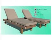 Bain de soleil en bois - Structure en bois lamellé collé   -  Traitement autoclave