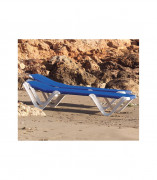 Bain de soleil en polyester plastifié - Longueur x largeur x hauteur : 194 x 77 x 57 cm