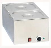 Bain-marie 2 bacs en acier inoxydable - 2 Bacs GN 1/2 inclus avec couvercle - A poser ou intégré sur meuble