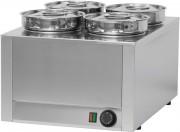 Bain-Marie à sauce 4 cuves - Puissance : 800 W / 230 V