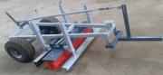 Balai pousseur sur chariot - Sur chariot à relevage électrique