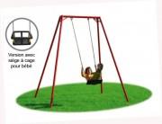 Balançoire 1 siège pour bébé - Siège à cage - Dimensions (L x P x H) cm : 235 x 165 x 235