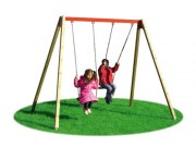 Balançoire 2 places pour aire de jeux - Dimensions (L x P x H) cm : 190 x 300 x 230