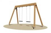 Balançoire 2 sièges - Dimensions (L x P x H) cm : 370 x 160 x 230