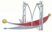Balançoire à bascule pour 6 à 12 ans - Dimensions (L x l x H) mm : 2960 x 1320 x 1540