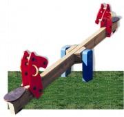 Balançoire à bascule pour aire de jeux - Dimensions (L x l x H) mm : 3080 x 286 x 785