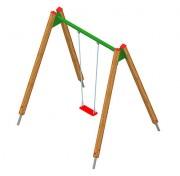 Balançoire en acier ou en bois pour enfants - En acier ou en bois - Plusieurs modèles proposés
