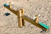 Balançoire horizontale 2 places - Tranche d'âge 4 à 9 ans