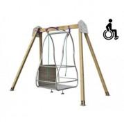 Balançoire pour enfants handicapés - Balançoire adaptée aux fauteuils roulants