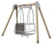Balançoire pour fauteuils roulants - Adaptée aux fauteuils roulants / 1 Place
